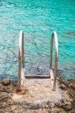 Barandillas cerca del mar Imagen de archivo