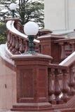Barandillas del granito Imagen de archivo libre de regalías