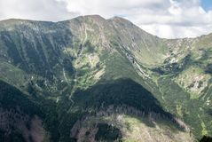 Baranec mountain ridge with highest Baranec peak on the right side in Western Tatras mountains in Slovakia Stock Image
