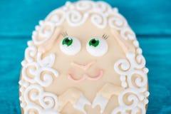Baranek, Wielkanocny ciastko, makro- obrazy royalty free