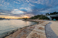 Barangaroo reserve in Sydney. Sunset from Barangaroo reserve new park for Sydney people Stock Image