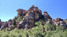 Baranka pagórek Na zewnątrz Zion parka narodowego obraz royalty free