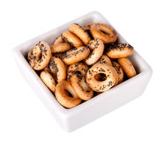 Barankas (bagel, boublik, donut). Isolated on a white background Royalty Free Stock Photo