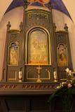 Baranow Sandomierski, Altar in der Kapelle des Palastes in Baranow Sandomierski stockfotografie