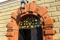 Baranow Sandomierski, palácio dos exteriores em Baranow Sandomierski, Polônia, chamou frequentemente Wawel pequeno foto de stock royalty free