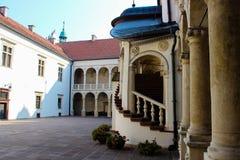 Baranow Sandomierski, palácio dos exteriores em Baranow Sandomierski, Polônia, chamou frequentemente Wawel pequeno imagem de stock royalty free