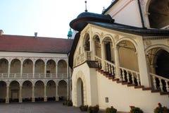 Baranow Sandomierski, palácio dos exteriores em Baranow Sandomierski, Polônia, chamou frequentemente Wawel pequeno fotos de stock royalty free