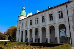 Baranow Sandomierski, palácio dos exteriores em Baranow Sandomierski, Polônia, chamou frequentemente Wawel pequeno fotos de stock
