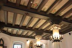 Baranow Sandomierski, Polska: Wnętrze pałac w Baranow Sandomierski, Polska, często nazwany mały Wawel obrazy stock