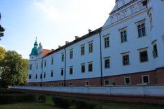 Baranow Sandomierski, yttersidaslott i Baranow Sandomierski, Polen, kallade ofta lilla Wawel royaltyfri foto