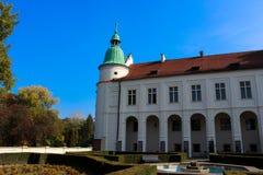 Baranow Sandomierski, yttersidaslott i Baranow Sandomierski, Polen, kallade ofta lilla Wawel royaltyfri fotografi
