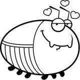 Barata dos desenhos animados no amor Imagem de Stock