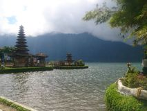baratan的Danau,巴厘岛 库存图片