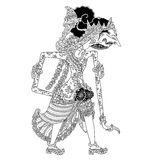 Baratmadya. A character of traditional puppet show, wayang kulit from java indonesia royalty free illustration