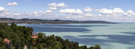 Baraton de lac à Budapest, Hongrie Photos stock