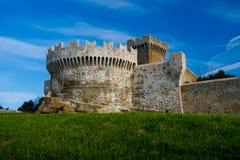 Baratti和Populonia历史的村庄在意大利 库存照片