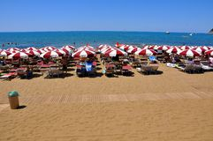 Baratti beach in Italy , 2011 Royalty Free Stock Images