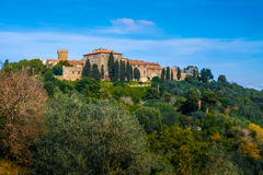 Baratti i Populonia historyczne wioski w Włochy Obraz Royalty Free