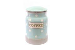 Barattoli ceramici per caffè Immagini Stock