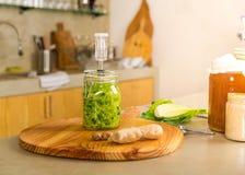 Barattoli del kimchi Fotografia Stock