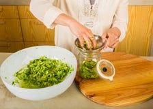 Barattoli del kimchi Fotografie Stock Libere da Diritti