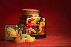2 barattoli della caramella Fotografie Stock