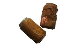 Barattoli di latta arrugginiti Fotografia Stock Libera da Diritti