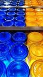 Barattoli di muratore colorati astrattismo Fotografie Stock