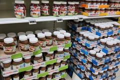 Barattoli di Nutella Fotografie Stock