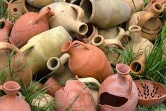 Barattoli e vasi dell'argilla Fotografie Stock