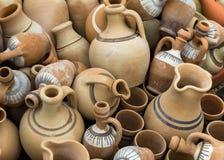 Barattoli e vasi dell'argilla Fotografia Stock