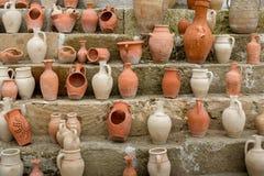 Barattoli e vasi dell'argilla Fotografia Stock Libera da Diritti