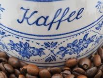 Barattolo bavarese d'annata del caffè Fotografia Stock Libera da Diritti