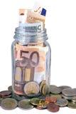 Barattolo dei soldi Immagini Stock Libere da Diritti