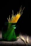 Barattolo del contenitore degli spaghetti Immagini Stock