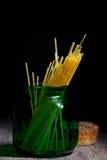 Barattolo del contenitore degli spaghetti Fotografia Stock Libera da Diritti