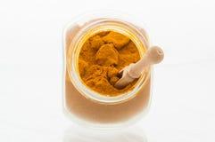 Barattolo del curry Immagini Stock