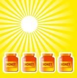 Barattolo del miele Immagini Stock