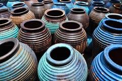 Barattolo dell'argilla Fotografia Stock