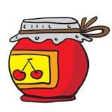 Barattolo della marmellata di amarene Immagini Stock