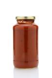 Barattolo della salsa di spaghetti Fotografie Stock