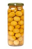 Barattolo delle olive verdi immagini stock libere da diritti