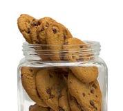 Barattolo di biscotto del cioccolato Fotografie Stock Libere da Diritti