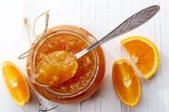 Barattolo di inceppamento arancio fotografia stock