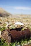 Barattolo di latta arrugginito Fotografie Stock