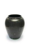 Barattolo di marmo brillante nero Fotografie Stock Libere da Diritti