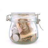 barattolo di soldi Fotografia Stock Libera da Diritti