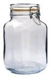 Barattolo di vetro su fondo bianco Immagine Stock