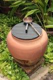 Barattolo di Weter per la decorazione in giardino Fotografia Stock