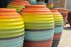 Barattolo in molti colourful Immagine Stock